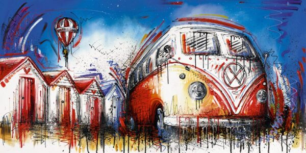 Easy Street By Samantha Ellis Signed Limited Edition Hand Embellished Canvas Print On Board