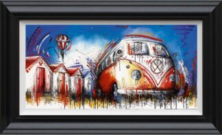 Easy Street By Samantha Ellis Signed Limited Edition Hand Embellished Canvas Print On Board Framed