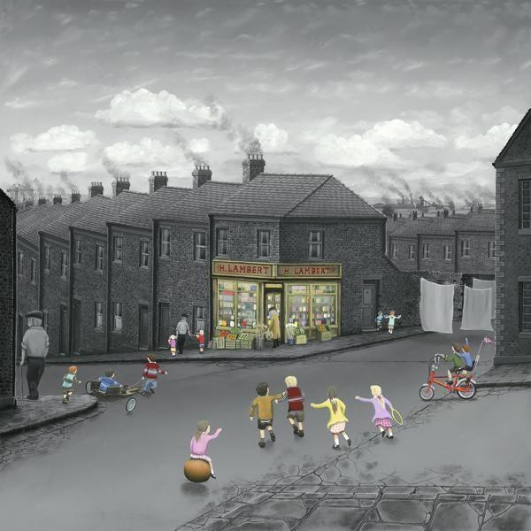 Last One There Buys The Sweets By Leigh Lambert Signed Limited Edition Mounted Paper Print