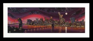 Moonlight on Manhattan By Rayford Signed Limited Edition Framed Resin Print