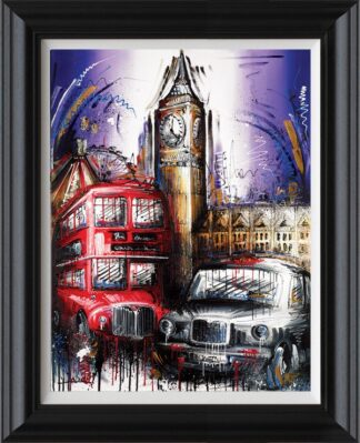 Playing for time Signed Limited Canvas print by Samantha Ellis framed in the artists recommended frame
