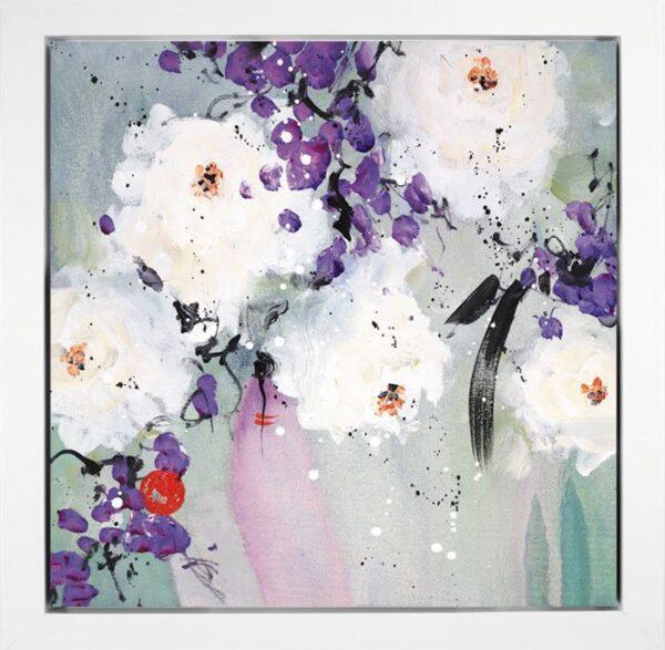 Lovelight I By Danielle O'Connor Akiyama Signed Limited Edition Hand Embellished Canvas Print Box Framed
