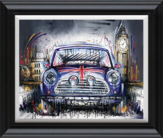 Mini Adventure By Samantha Ellis Signed Limited Edition Hand Embellished Canvas Print On Board Framed