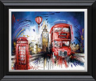 Times Flies By Samantha Ellis Signed Limited Edition Hand Embellished Canvas Print On Board Framed