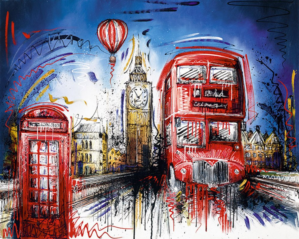 Times Flies By Samantha Ellis Signed Limited Edition Hand Embellished Canvas Print On Board