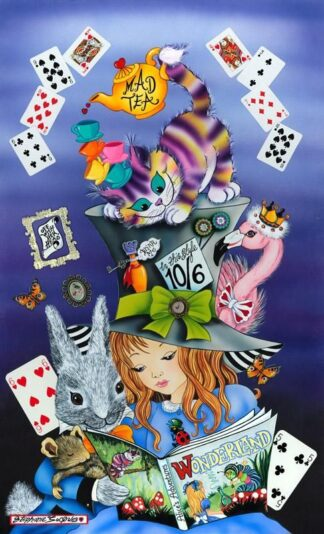 Wonderland By Stephanie Jaques Signed Limited Edition Framed High Gloss Resin with 3D Elements Print