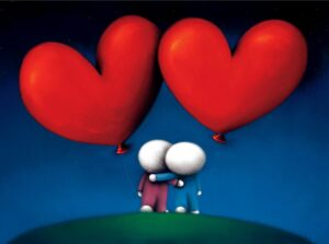 Two Hearts One Love By Doug Hyde Signed limited Edition Paper print
