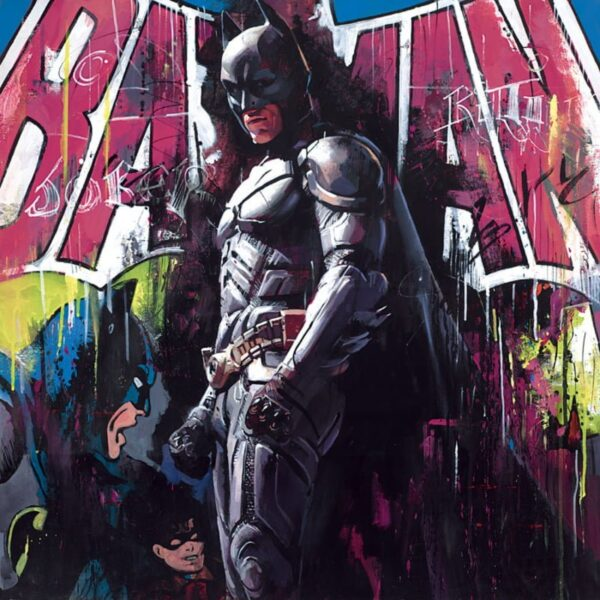 Gotham Hero By Zinsky Signed Limited Edition Canvas Hand Finished