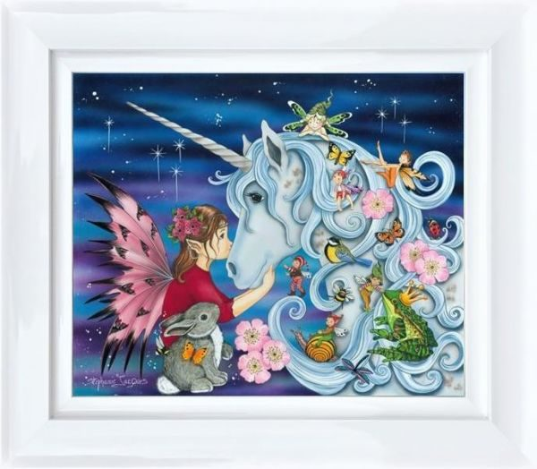 Me and My Unicorn by Stephanie Jacques Framed