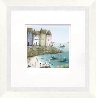 Across The bay I By Rebecca Lardner Signed Limited Edition Paper Print Framed