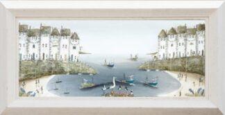 High Tide Ride By Rebecca Lardner Signed Limited Edition Canvas Print Framed