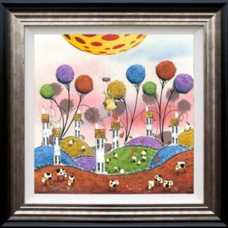 Hot Hare Balloon by Dale Bowen Framed