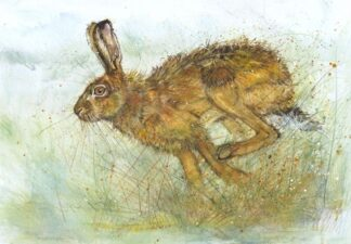 On the Run By Kate Wyatt Signed Limited Edition Giclee Hand Embellished on Paper Mounted