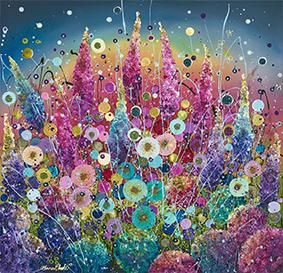 Shimmering Beauty By Leanne Christie Signed Limited Edition Giclee Hand Embellished on Paper Framed