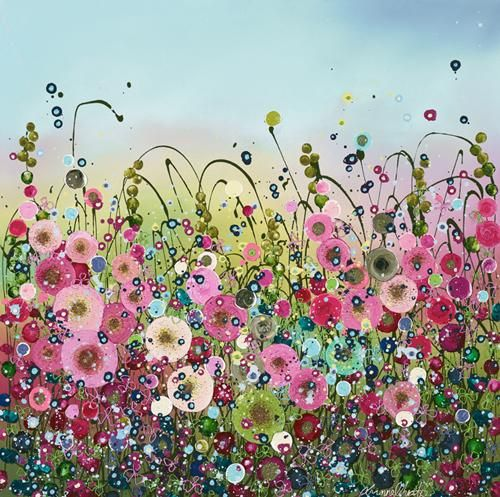 Sweethearts By Leanne Christie Signed Limited Edition Giclee Hand Embellished on Paper Framed