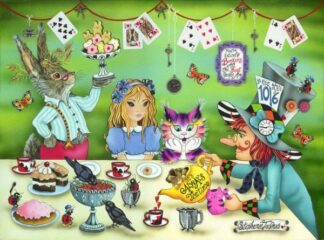 It's Always Tea Time By Stephanie Jacques Signed Limited Edition Hi Gloss Resin with 3D Elements Framed