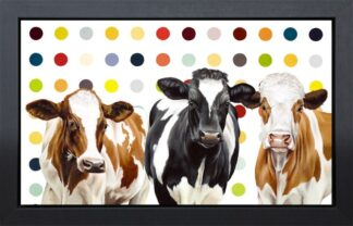 Damien's Herd By Hayley Goodhead Signed Limited Edition Framed