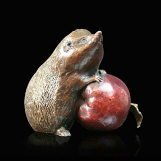 Hedgehog with Apple By Michael Simpson Signed Limited Edition Sculpture