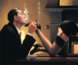 Fetish By Jack Vettriano signed limited edition paper print