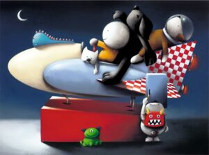 Space Cadets By Doug Hyde - Signed Limited Edition Paper and Mounted