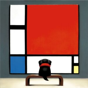 Contemplating Mondrian By Doug Hyde - Signed Limited Edition Paper and Mounted