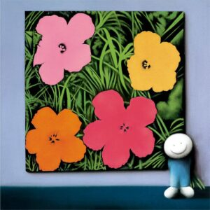 Andy's Flowers By Doug Hyde - Signed Limited Edition Paper and Mounted