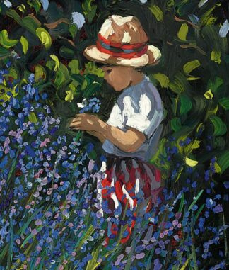 Picking Bluebells By Sherree Valentine Daines Signed Limited Edition