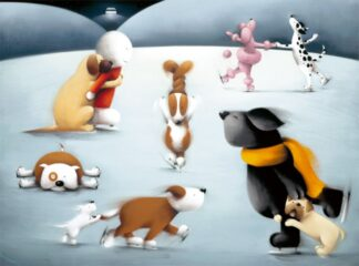 Dancing On Ice - Signed Limited Edition Print By Doug Hyde - Paper & Mounted - Unframed
