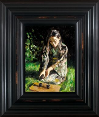 Geisha Pouring Sake by Fabian Perez Signed Limited Edition - Canvas on board Framed