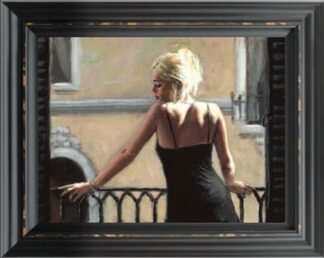 Sally In San Telmo II - Signed Limited Edition By Fabian Perez Framed