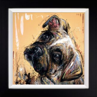 All Ears - Signed Limited Edition Hand Embellished Canvas Print on Board by Samantha Ellis Framed