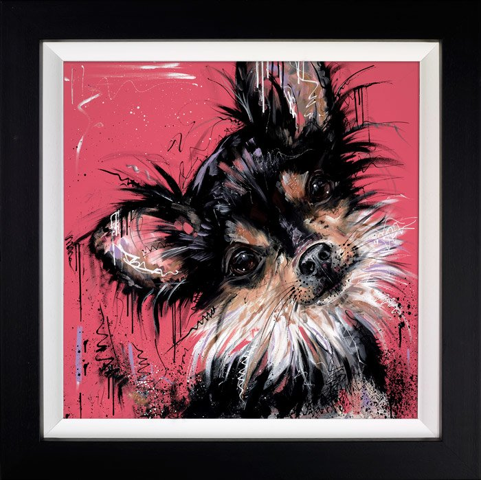 Because I'm Worth It - Signed Limited Edition Hand Embellished Canvas Print on Board by Samantha Ellis Framed