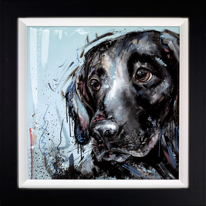 Devoted To You - Signed Limited Edition Hand Emebellished Canvas Print on Board by Samantha Ellis Framed