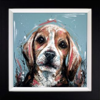It Wasn't Me - Signed Limited Edition Hand Embellished Canvas Print on Board by Samantha Ellis Framed