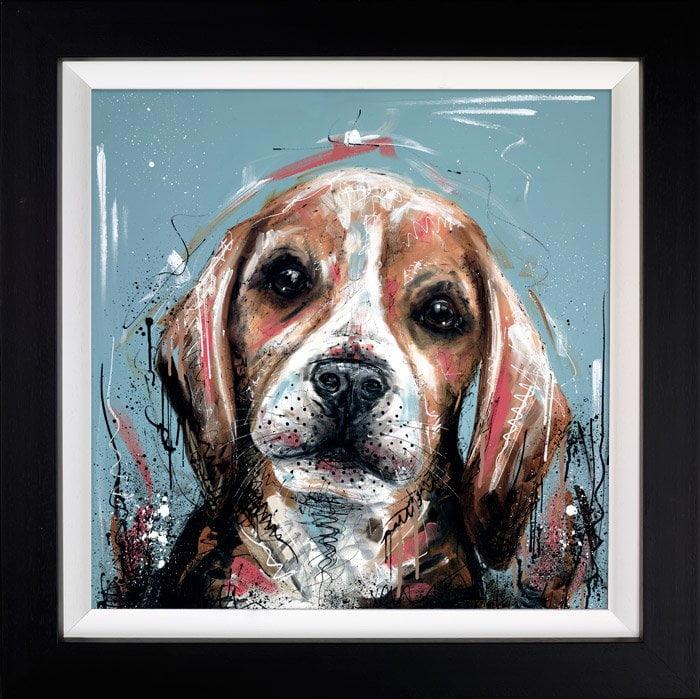 It Wasn't Me - Signed Limited Edition Hand Embellished Canvas Print on Board by Samantha Ellis Framed