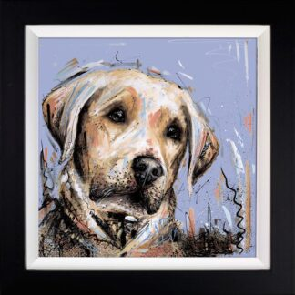 Paws For Thought Signed Limited edition print by Samantha Ellis Framed in the artists recommended frame