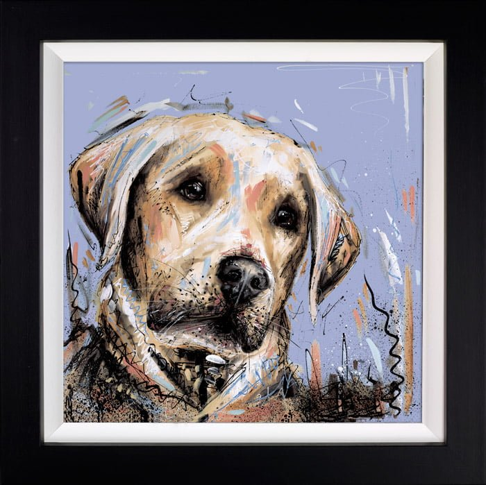 Paw's For Thought - Signed Limited Edition Hand Embellished Canvas Print on Board By Samantha Ellis Framed