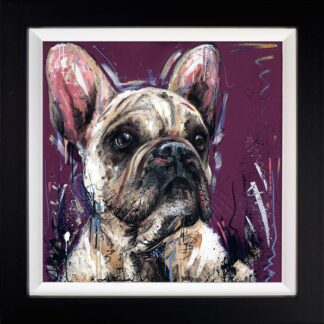 Posh Pooch - Signed Limited Edition Hand Embellished Canvas on Board By Samantha Ellis Framed