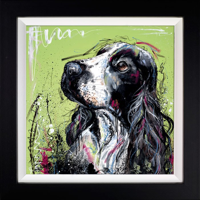 Reporting For Duty - Signed Limited Edition Hand Embellished Canvas Print On Board from Samantha Ellis Framed