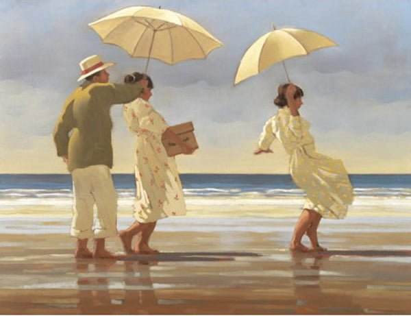 The Picnic Party Large - Signed Limited Edition Print From Jack Vettriano - Mounted