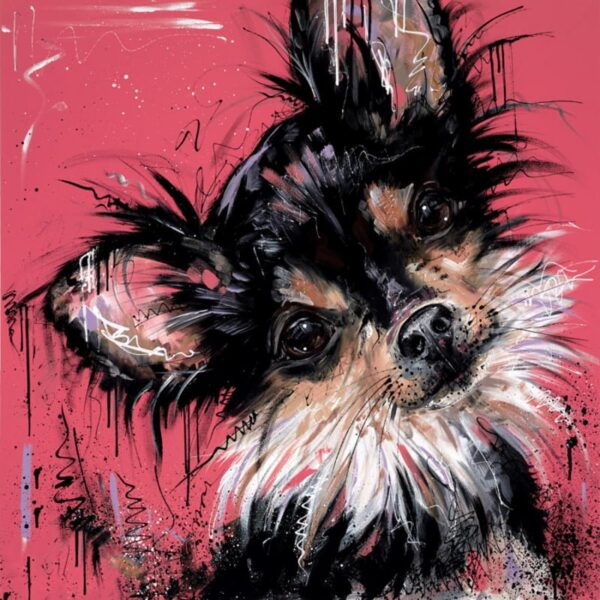 Because i'm Worth It - Signed Limited Edition From Samantha Ellis - Hand Embellished Canvas