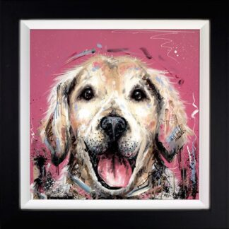 Mucky Pup - Signed Limited Edition From Samantha Ellis - Hand embellished Canvas