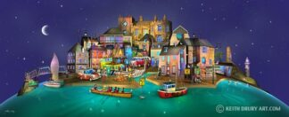 Padstow Island - Signed Limited Edition From Keith Drury - Unmounted