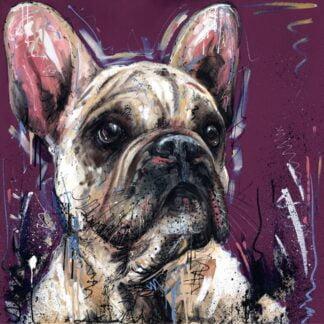 Posh Pooch - Signed Limited Edition From Samantha Ellis - Hand Embellished Canvas