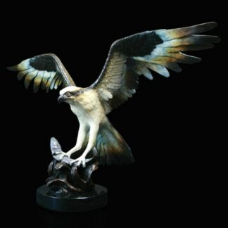 Osprey - Signed Limited Edition Bronze Sculpture by Michael Simpson
