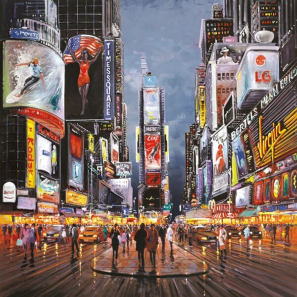 After Dark, Times Square - Signed Limited Canvas Edition from Henderson Cisz