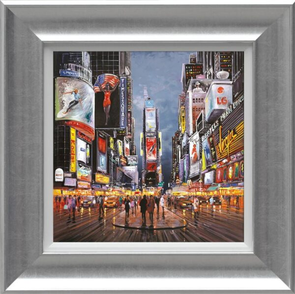 After Dark, times Square - Signed Limited Canvas edition From Henderson Cisz Framed
