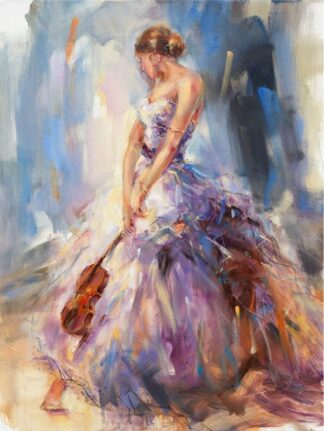 Flirting With A Violin - Signed Limited Edition Print By Anna Razamovskaya