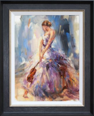 Flirting With A Violin - Signed Limited Edition By Anna Razamovskaya - Framed