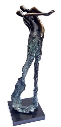 Let's Dance - Signed Limited Edition Bronze Sculpture By Jennine Parker